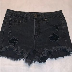 Aeropostale high waisted shorty shorts 0 black